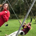 cirrus students on swings