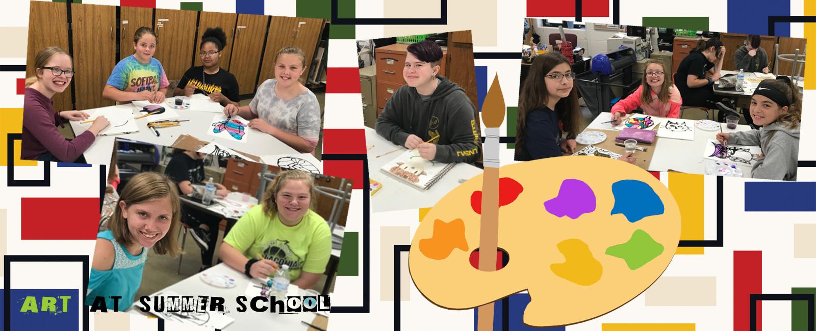 Art students at summer school